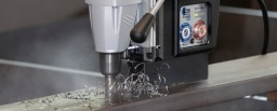 What are the fundamental safety precautions for using a magnetic drilling machine?